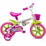 Bicicletinha Bicicleta Infantil Menina Aro 12 Honey Nathor