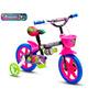 Bicicleta Infantil Aro 12 Charmosa Tipo Monster High Nathor