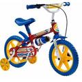 Bicicleta Aro 12 Infantil De 03 A 05 Anos Vermelha-azul