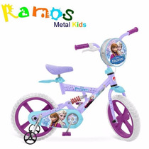 Bicicleta Infantil Frozen Disney - Elza, Ana, Olaf Princesas