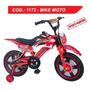 Bike Moto Infantil Aro 16 Bicicleta Freio Disco Unissex C001