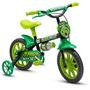 Bicicleta Aro 12 Infantil Tipo Ben 10 Nathor Black 12 Verde