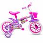 Bicicleta Criança De 3 A 5 Anos Aro 12 Menina Violet Nathor