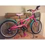 Bicicleta Caloi Barbie Fucsia Aro 20
