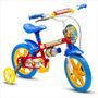 Bicicleta Infantil Aro 12 Masculina Nathor Fireman 7 Verm...