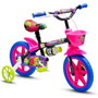 Bicicleta Aro 12 Infantil Tipo Monster High Nathor Charmosa