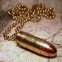 Colar Bala Pistola 9mm Munição Glock 769 Arma Automática