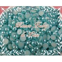 Meia Perola Azul De 3mm Embalagem Com 500 Unidades