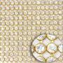 3 Mantas De Strass Cristal 1ª Qualidade 22cm X 1,20 Metros