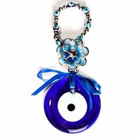 Pendulo Olho Grego Em Murano Diam 8,5cm
