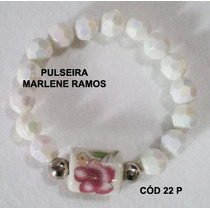 Pulseira Artesanal Tons De Rosa/branco E Prata Cod 22 P