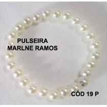 Pulseira Artesanal Tons De Pérola Cod 19 P