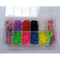 Rainbow Loom - 1000 Elásticos + Cx Organizadora Frete Grátis