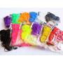 Pacote 2400 Elasticos Tear Color Rainbow P Fabrica Pulseiras
