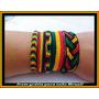 Kit C/5 Pulseiras Tornozeleiras Reggae Bob Frete Grátis!!!