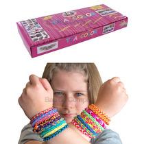 Kit Rainbow Loom Tear Fábrica De Pulseiras Elástico Original
