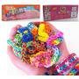 Kit Fábrica De Pulseiras Elástico Estrela + Kit Tear Color