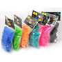 Kit 2400 Elásticos Pulseira Borrachas Loom Bands Cor Rainbow