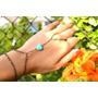 Anel Pulseira Indiana Slave Bracelet Pedra Howlita Turquesa