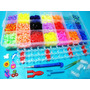 Novo!! Kit Fabrica Tear Maleta 4000 Elasticos Pingentes Loom