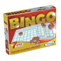 Jogo De Bingo C/75 Pedras De Madeira Xalingo