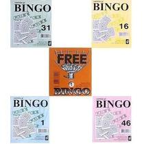 5.000 Cartelas Coloridas Para Bingos De 75 Bolas