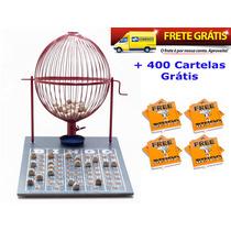 Jogo De Bingo 75 Bolas Grande Nº3 Com 400 Cartelas Ivf