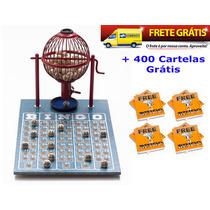 Jogo De Bingo 75 Bolas Pequeno Nº1 Com 400 Cartelas Ivf