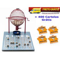 Jogo De Bingo 75 Bolas Médio Nº2 Com 400 Cartelas Ivf