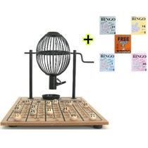 Bingo Completo - Globo Preto Nº 1 + 300 Cartelas Grátis