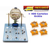 Jogo De Bingo 75 Bolas Pequeno Nº1 Com 400 Cartelas Izaf