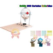 Bingo Completo Globo Nº2 + 300 Cartelas Coloridas + Frete C
