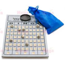 Kit Bingo Nº1 Tabuleiro Bolas 1 A 75 Saco De Sorteio