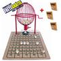 Globo Bingo Profissional Nº2 Com 300 Cartelas Vermelho Fret