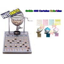 Bingo Completo Globo Nº1 + 400 Cartelas Coloridas + Frete Z