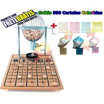 Bingo Completo Globo Nº1 + 500 Cartelas Coloridas + Frete C