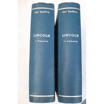 Lincoln - Carl Sandburg - 2 Volumes - Capa Dura - 1960