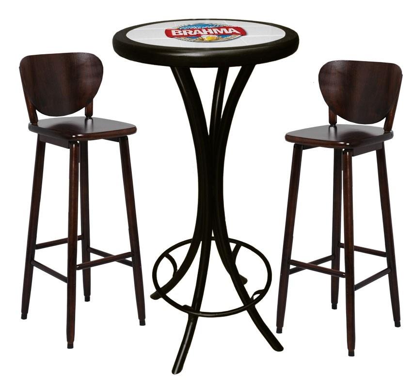 Bistro mesa alta banquetas brahma chopp cervejas bar r - Mesas altas para bar ...