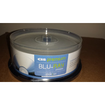 25 Blu-ray Cis Premium 25gb 6x Printable Tubo Lacrado