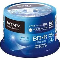 Blu-ray 25gb Printable 4x Bd-r 50 Mídias Sony - Frete Grátis