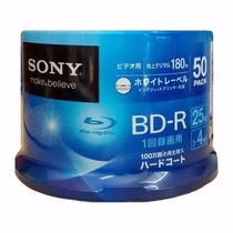 Blu-ray Sony 4x 25gb Printable - 50 Unidades (pino Lacrado)