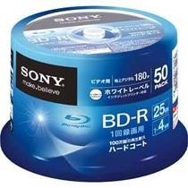 50 Unidades Blu-ray Print Sony 4x 25gb Printable Lacrado