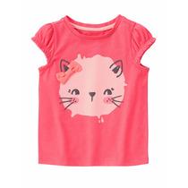 Blusa Infantil Para Menina Rosa Gymboree Tamanho 3 Anos