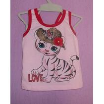 Blusa Camiseta Roupa Bebe Infantil Bebe Rosa Lacinho 1 Ano