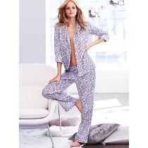 Conjunto Pijama Pantufa Leopardo Victorias Secret Original