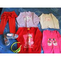 Lote Com Roupas Infantis + Sapatinho Tipo Boneca + Tiara