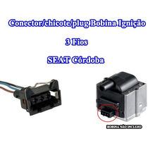 Conector/chicote/plug Bobina Ignição 3 Fios Seat Córdoba