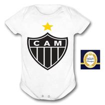 Macacão Atletico Mineiro Roupa Infantil Galo Body Alvinegro