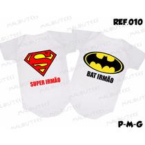 Body Gemeos Kit Com 2 Bodies Bebês Irmãos Batman Superman