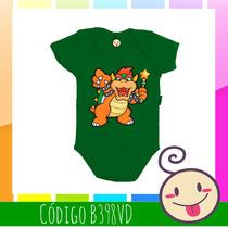 Body Bowser Koopa Mario Bebê Criança Legal Estampado Barata